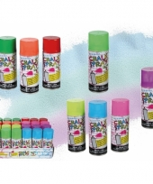 Roze graffiti krijt spray 100 ml trend
