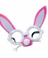 Roze haas bril met oren en snuit trend