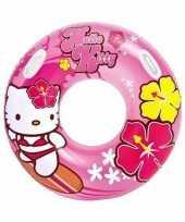 Roze hello kitty zwemband zwemring trend