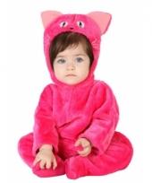 Roze kat dierenkostuum voor babys trend