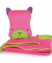 Roze katten slaapset voor onderweg trend