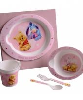 Roze kinder servies van winnie de pooh trend