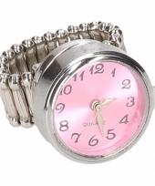 Roze klok chunk ring voor volwassenen trend