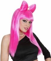 Roze lady gaga look a like pruik trend