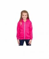 Roze meisjes sweater met capuchon trend