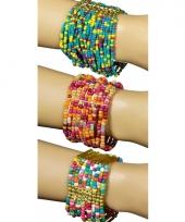 Roze met blauwe kralen armbanden trend