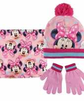 Roze minnie mouse winterset voor meisjes trend