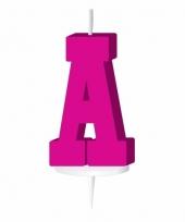 Roze naam kaarsje letter a trend