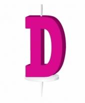 Roze naam kaarsje letter d trend