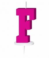 Roze naam kaarsje letter f trend