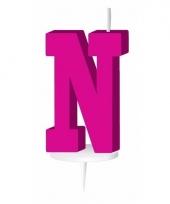 Roze naam kaarsje letter n trend