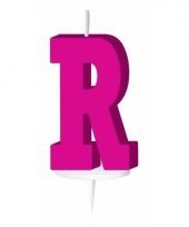 Roze naam kaarsje letter r trend