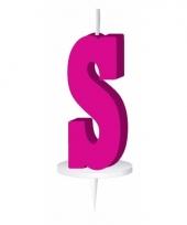 Roze naam kaarsje letter s trend