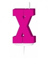 Roze naam kaarsje letter x trend