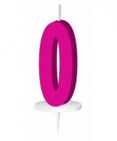 Roze nummer kaarsje cijfer 0 trend