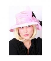 Roze nylon hoed voor dames trend