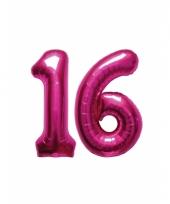 Roze opblaasbare 16 jaar folie ballonnen trend