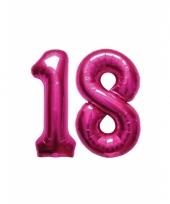 Roze opblaasbare 18 folie ballonnen trend