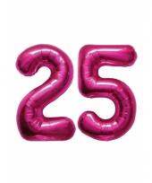 Roze opblaasbare 25 folie ballonnen trend