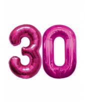 Roze opblaasbare 30 folie ballonnen trend