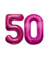 Roze opblaasbare 50 folie ballonnen trend