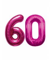 Roze opblaasbare 60 folie ballonnen trend