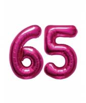Roze opblaasbare 65 folie ballonnen trend