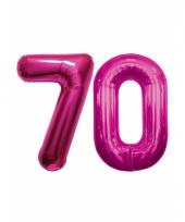Roze opblaasbare 70 folie ballonnen trend