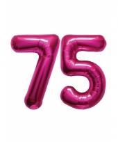 Roze opblaasbare 75 folie ballonnen trend