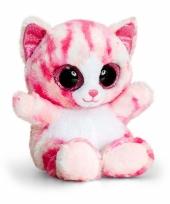 Roze poesjes knuffel 15 cm trend