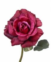 Roze rozen vintage 31 cm trend