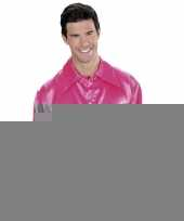 Roze satijnen blouse trend