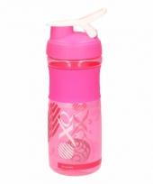 Roze sport shaker 0 5 l trend