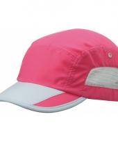 Roze sportieve pet van licht materiaal trend