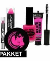 Roze uv make up pakket 5 delig trend