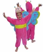 Roze vlinder kostuum van pluche trend