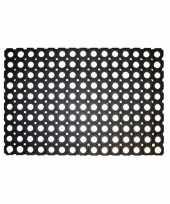 Rubberen deurmat buitenmat 60 x 40 cm trend