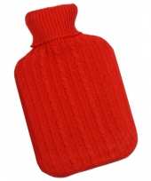 Rubberen kruik met rode hoes 2 liter trend