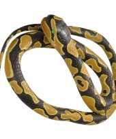 Rubberen speelgoed koningspython mega slang 183 cm trend
