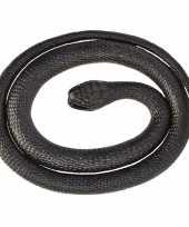 Rubberen speelgoed zwarte mamba slang 117 cm trend