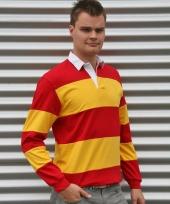 Rugbyhemd rood met geel trend