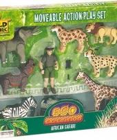 Safari set met beweegbare poppetjes trend