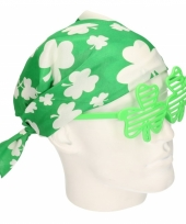 Saint patricks day bandana verkleedaccessoire trend