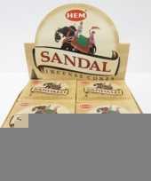 Sandelhout wierook kegeltjes 10 stuks trend