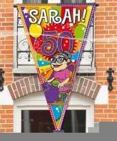 Sarah 50 jaar mega puntvlag trend