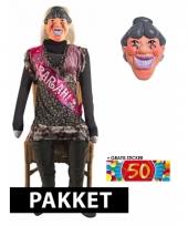 Sarah pop en masker 50 jaar 140 cm trend