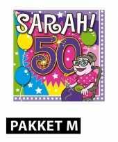 Sarah verjaardag versiering feestpakket trend