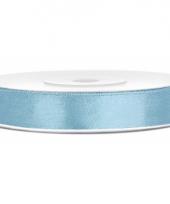 Satijn sierlint lichtblauw 12 mm trend