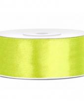 Satijn sierlint neon groen 25 mm trend
