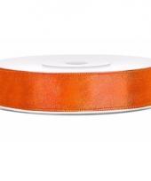 Satijn sierlint neon oranje 12 mm trend